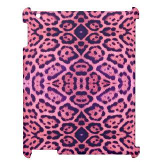 Pink and Purple Jaguar Fur iPad Case