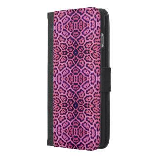 Pink and Purple Jaguar Fur iPhone 6/6s Plus Wallet Case