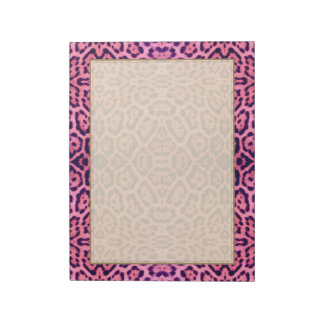 Pink and Purple Jaguar Fur Notepad