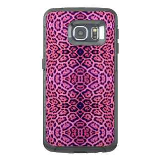 Pink and Purple Jaguar Fur OtterBox Samsung Galaxy S6 Edge Case