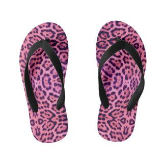 Pink and Purple Jaguar Fur Thongs