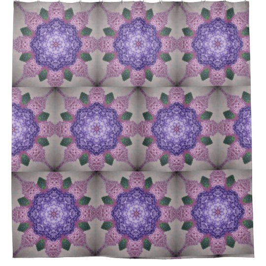 Pink And Purple Kaleidoscope Hydrangea Shower Curtain
