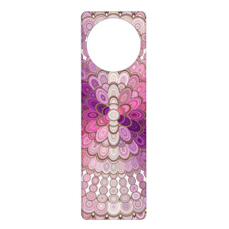 Pink and Purple Mandala Flower Door Hanger