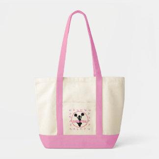 Pink and Purple Megaphones Cheerleader Personalize Tote Bag