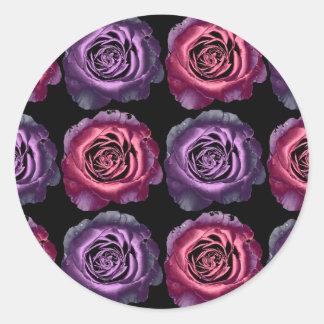 Pink and Purple Metallic Rose Sticker