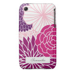 Pink and Purple Mod Floral iPhone 3 Case