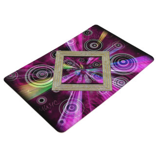 Pink And Purple Pattern Floor Mat