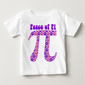 Pink and Purple Peace Pi Baby T-Shirt