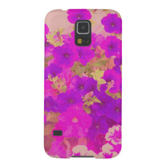 Pink and Purple Petunias Galaxy S5 Case