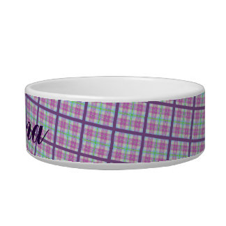 Pink and Purple Plaid Bowl
