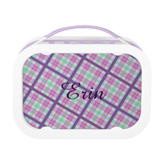 Pink and Purple Plaid with Lady Bug Lunch Boxes
