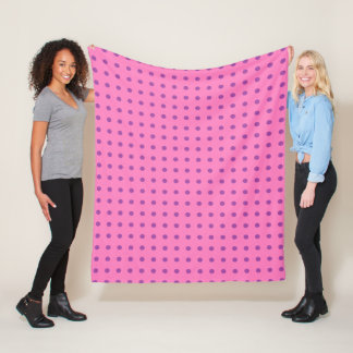 Pink and Purple Polka Dot Fleece Blanket