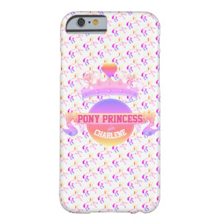 Pink and Purple Pony Princess Barely There iPhone 6 Case