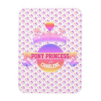 Pink and Purple Pony Princess Magnet