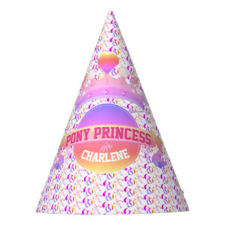 Pink and Purple Pony Princess Party Hat