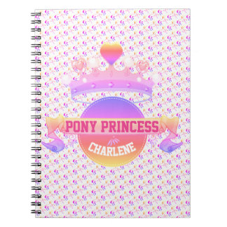 Pink and Purple Pony Princess Spiral Notebook