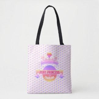 Pink and Purple Pony Princess Tote Bag
