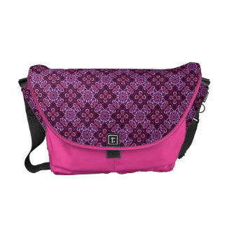 Pink And Purple Retro Pattern Courier Bag