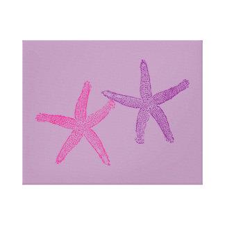 Pink and Purple Starfish Lilac Canvas Print