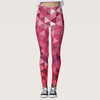Pink and Purple Triangle Pattern Leggings