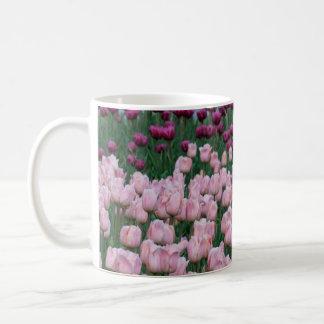 Pink and purple Tulips mug