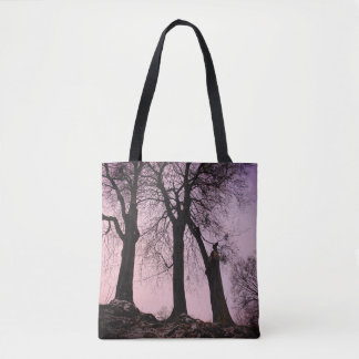 Pink And Purple Twilight Tote Bag