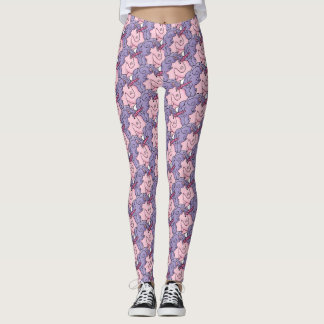Pink and Purple Unicorn Pattern Leggings