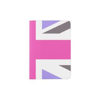 Pink and purple Union Jack UK British Flag Travel Passport Holder