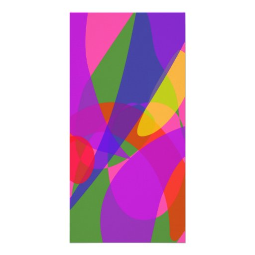 Pink and Purple Vivid Colors Photo Card Template