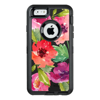 Pink and Purple Watercolor Blossoms OtterBox iPhone 6/6s Case