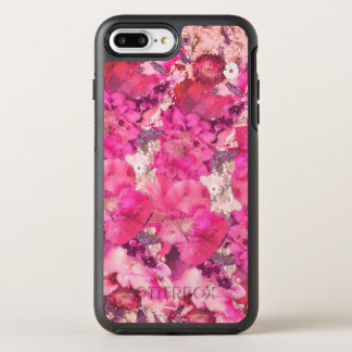 Pink and Purple Watercolor Flower Blossoms OtterBox Symmetry iPhone 8 Plus/7 Plus Case