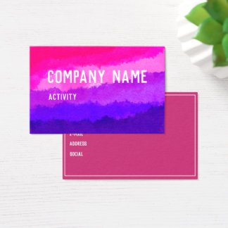Pink and Purple Watercolour Businesscard Business Card