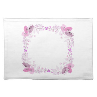 Pink and Purple Wreath of Flowers Placemat