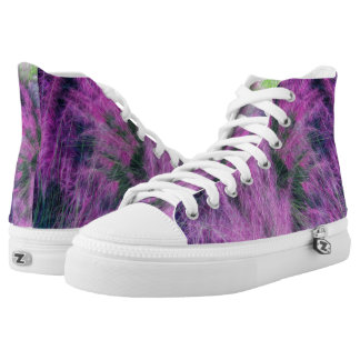 Pink and Purple Zipz High Top Shoes Printed Shoes