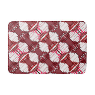 Pink And Red Abstract Pattern Bath Mat