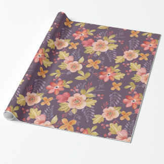 Pink and Red Floral Pattern on Purple Background