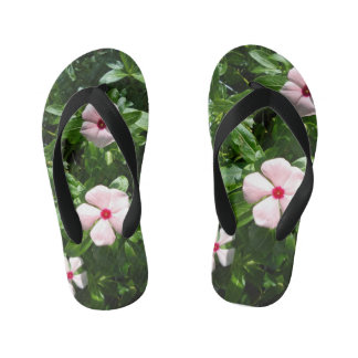 PINK AND RED FLOWERS KID'S THONGS