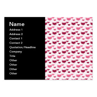Pink and Red Flying Hearts Business Card Templates