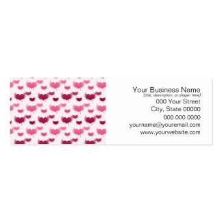 Pink and Red Flying Hearts Business Card