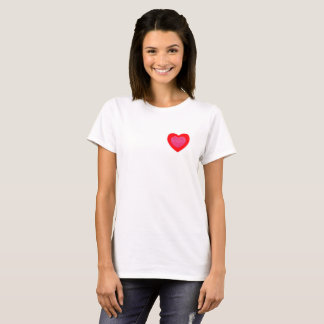 PINK AND RED HEART FOR ANY OCATION T-Shirt