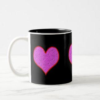 Pink and Red Heart Mug