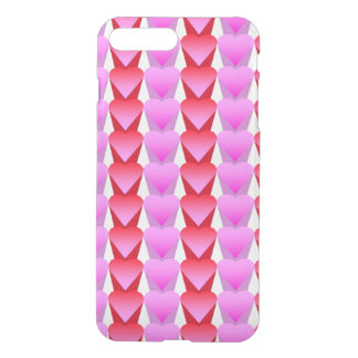 Pink and Red Hearts in a Row iPhone 7 Plus Case
