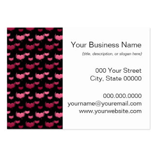 Pink and Red Hearts Pattern Business Card