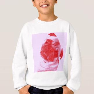 Pink and Red Modern Artist-Inspired Pug Print Sweatshirt