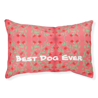 Pink And Red Pet Bed For The Best Dog Ever