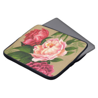Pink And Red Roses Painting Laptop Sleeve
