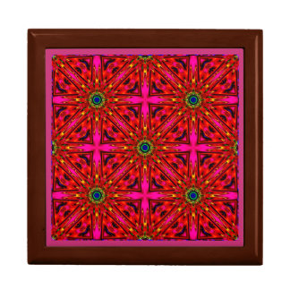 ~ Pink and Red Stars Fractal ~ Gift Box
