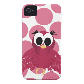 Pink and Red Twitter Bird  girly iphone4 case iPhone 4 Covers
