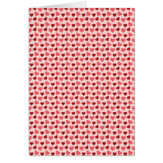 Pink and Red Valentine's Day Hearts Pattern Gifts Card