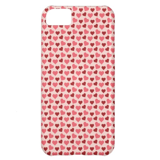 Pink and Red Valentine's Day Hearts Pattern Gifts iPhone 5C Covers